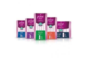 New Poise Feminine Hygiene Pads - Regular Pads, 248Mm L, 240Ml Carton (16 X 6