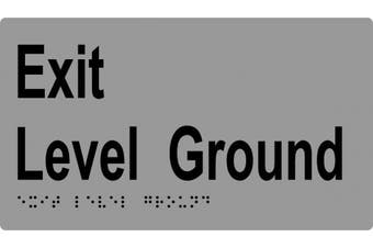 New Metlam Ml16997 Braille Sign, Exit Ground Floor - Silver 210Mm W X 120Mm H