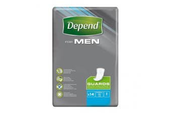 New Depend For Men Guards - White Carton (12 X 6 Packs)