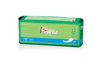 New Depend Slip Inlay  Booster Pads Unisex - White - 240Ml Carton (30 X 6 Packs)