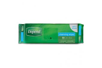 New Depend Cleansing Wipes - White - 20Cm X 30Mm Carton (50 X 14 Packs)