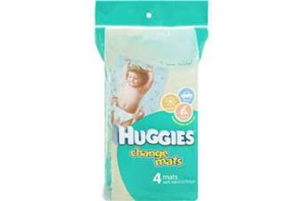 New Huggies Hug Change Mats 4X5 Pack - Blue/White Teddy Bear Design 48Cm X 76Cm
