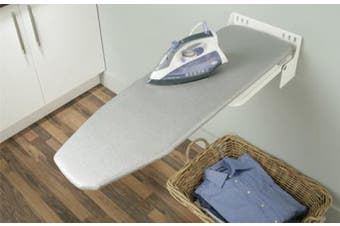 New Hafele Ironfix Ironing Board Wall Installation - White Bracket No Cover