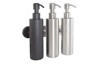 New Bradley 6330 Soap Dispenser Liquid 200Ml - Matte Black 203Mm H X 90Mm D