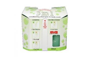 New Milestone 3 In 1 Conditioning Shampoo and Body Wash - Green Carton (6 X