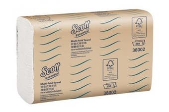 New Scott Essential 38002-S Hand Towel Multifold Single Pack - White Single Pack