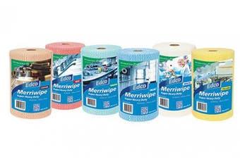 New Edco Cleaning Merriwipe 561 Super Heavy Duty Wipes - Blue Carton (4 Rolls)