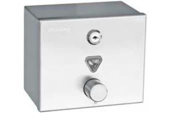 New Bradley Contemporary 6543 Soap Dispenser 1.2L Liquid - Silver 170Mm W X