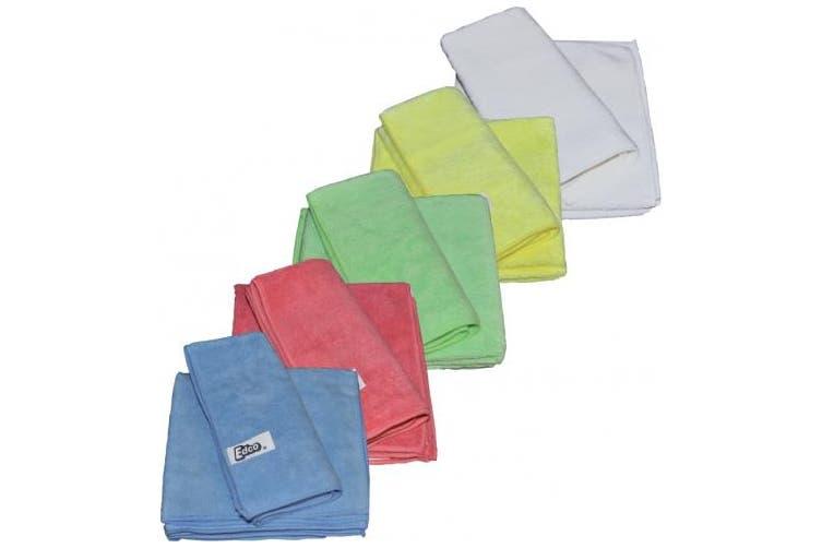 New Edco Cleaning Merrifibre 580 All Purpose Microfibre Cloths - Blue Pack (3