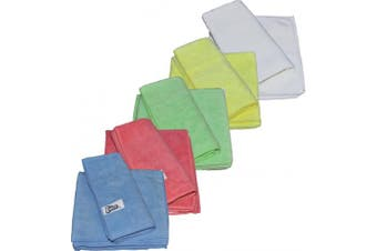 New Edco Cleaning Merrifibre 580 All Purpose Microfibre Cloths - Yellow Pack (3