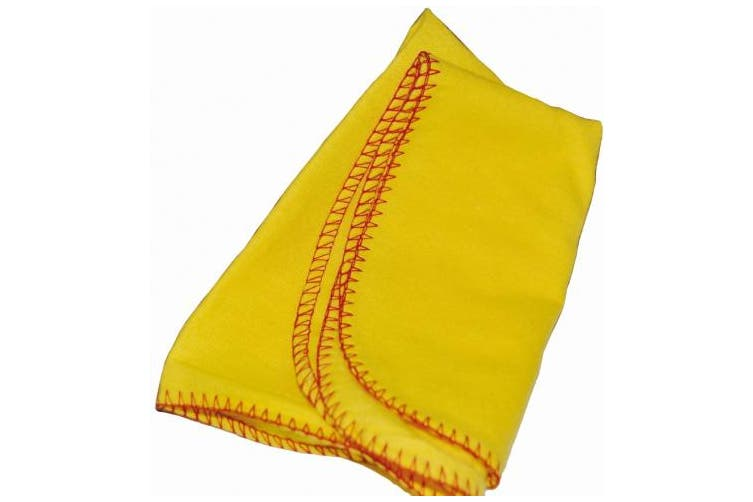 New Edco Cleaning Polishing Cloth Unwrapped - Yellow Pack (10 Cloths)