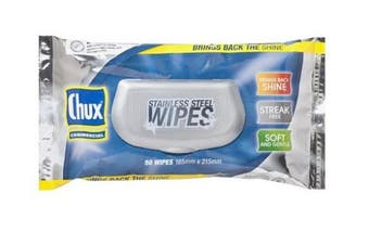 New Chux Universal Stainless Steel Wipes - White Carton (8 Packs)
