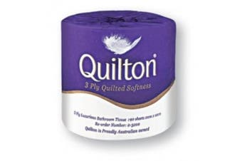 New Abc Quilton  Toilet Tissue Paper 3 Ply - Commercial Grade - White, 190 Sheet