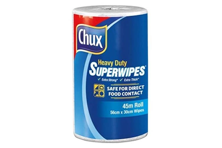 New Chux Superwipes  9305 Cloth Roll Heavy Duty - White Carton (6 Rolls)