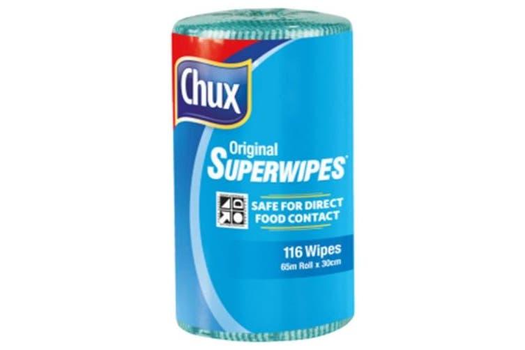 New Chux Superwipes  9316 Cloth Roll Original - Blue Carton (4 Rolls)
