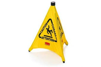 New Rubbermaid Safety 9S0 Safety Cone Pop-Up - Yellow 50Cm Heigh