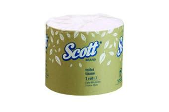 New Scott 5741 Toilet Tissue 400 Sheet - 2Ply, White Carton (48 Rolls)
