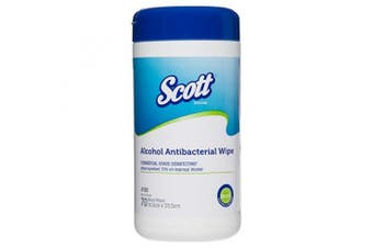 New Scott 4100 Antibacterial Wipes Alcohol-Based - White Single Cannister