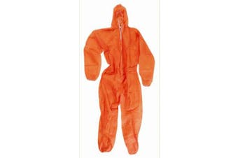 New Steeldrill Disposable Polyprop Overalls - Orange Large