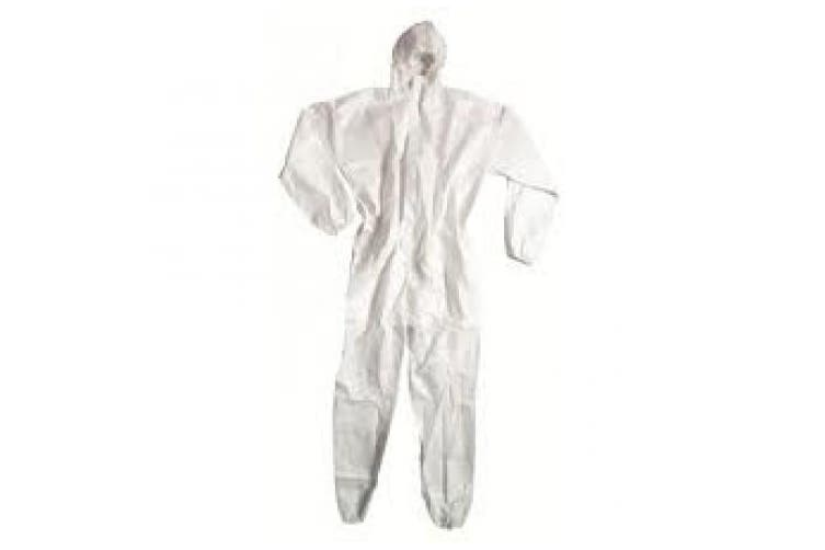 New Steeldrill Microporous Disposable Coveralls - White Xxxl