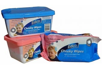New Edco Infant Cheeky Wipes Baby and Personal Hygiene Wipes - White Wipes Pack