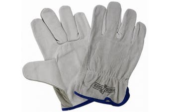 New Steeldrill Rough Rider Grey Riggers Protective Ware - Grey/Blue Size 8 (S)-