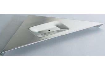 New Bradley 7590 Corner Shelf Without Soap Tray - Silver 285Mm X 400Mm X 285Mm