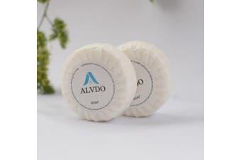 New Alvdo Hotel Pleat Wrapped Soap - White 40G, Carton (200Pcs)