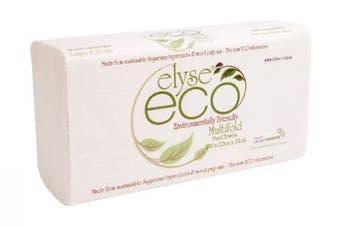 New Elyse Eco 2323 Hand Towel Muiltifold - 23Cm X 23Cm, 40Gsm Carton (16 Packs)
