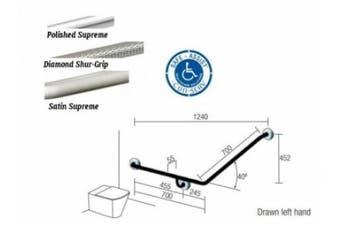 New Con-Serv Hygienic Hs077 Toilet Grab Rail 700Mm X 700Mm - Polish Supreme
