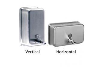 New Best Buy Bathroom Accessories Poseer Soap Dispenser - Silver Horizontal