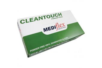 New Mediflex Cleantouch Disposable Gloves, Powder Free, Vinyl, Extra Large -