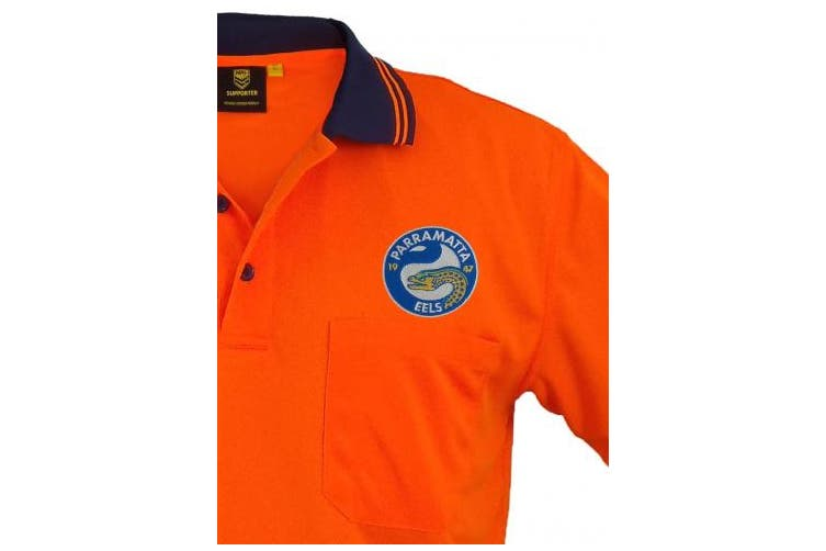 Dick Smith New Worknplay Parramatta Eels Nrl Hi Vis Short Sleeve Polo Orange Orange Navy Sponges Cloths Scourers Home Garden Cleaning Housekeeping