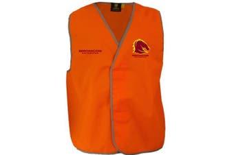 New Worknplay Brisbane Broncos Nrl Safety Vest Orange Small/Medium