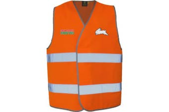 New Worknplay South Sydney Rabbitohs Nrl Vest With Reflective Tape Orange