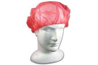 New Mediflex Bouffant Medi Cap 21 Inch - Red 4 Box (1000 Caps)