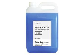New Bradley Bradleycare Ah6012 Anti-Microbial Hand Soap, Aqua Health - Blue 5L