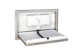 New Best Buy Infant Bbs-0041 Baby Change Table Horizontal - Silver Recessed