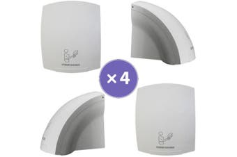 New Best Buy Combo Bbh 4 Hand Dryer Set - White Abs Plastic Includes 4 Units