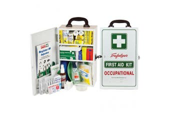 New Brady First Aid National Workplace Wall Mount Metal Case Kit - White