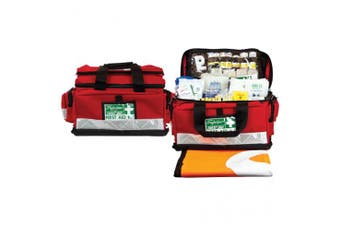 New Brady First Aid Survival Kit Fully Stocked - Red Soft Case