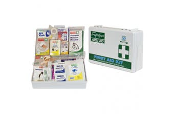 New Brady First Aid Small Office Kit - White Abs Plastic Case