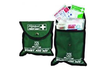 New Brady First Aid Handy Pocket Kit - Green Pvc Soft Pouch