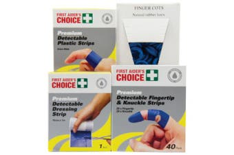 New Brady First Aid Blue Detectable Wound Pack