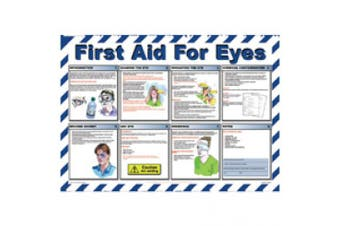 New Brady First Aid Workplace Poster First Aid For Eyes - Multi Colour H580mm X