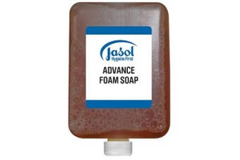 New Jasol Brightwell 2073742 Advance Foam Soap 6X1l Pods - Brown 6 X 1 Litre