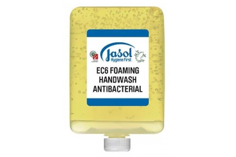 New Jasol Brightwell 2073851 Ec6 Foaming Handwash Antibacterial 6X1l Pods -