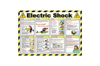 New Brady First Aid Workplace Safety Poster - Electric Shock - Multi Colour