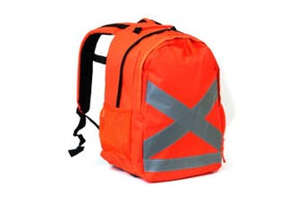 New Best Buy Hi-Vis Backpack 26L - Fluorescent Orange 30W X 20D X 42H Cm