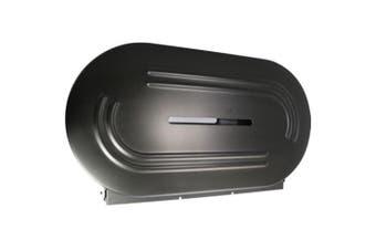 New Bradley 5425 Double Jumbo Toilet Roll Dispenser - Matte Black 522Mm W X